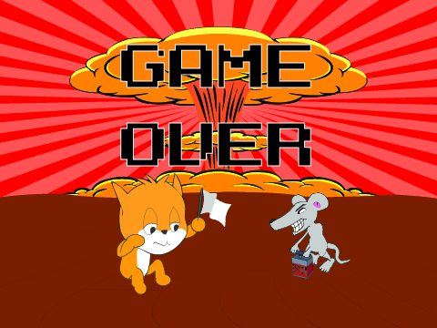 The title screen for a game Im designing for my Full Stack Developer Class. Please visit Scratch to play
